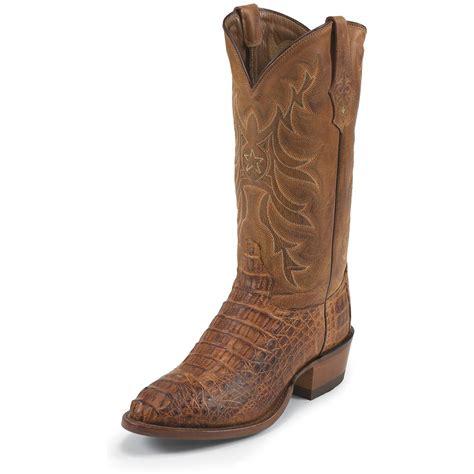 vintage cowboy boot l s tony lama 174 13 quot vintage hornback caiman boots