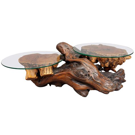 Redwood Coffee Table A Rustic Redwood Coffee Table At 1stdibs