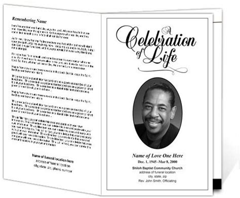 classical program template 89 best images about funeral programs on