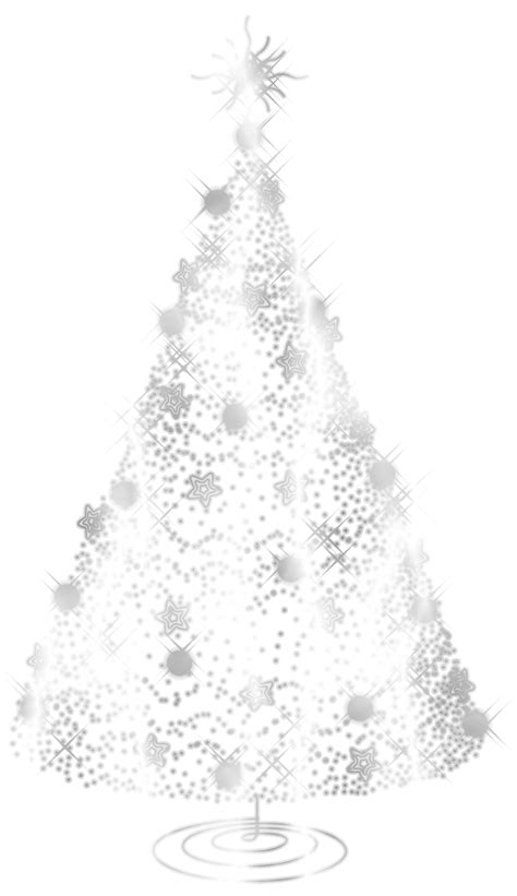 silver christmas tree clipart