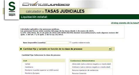 Calculo De Tasas Judiciales Y De Intereses Procurador | 3 herramientas online para el calculo de las tasas