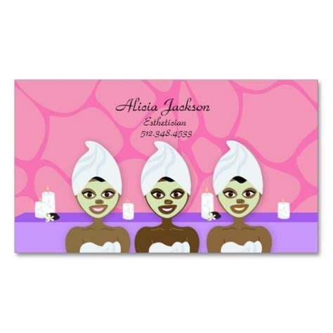 spa girls esthetician business card i love this design