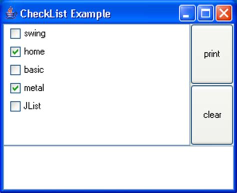 java swing list checkbox list list 171 swing components 171 java