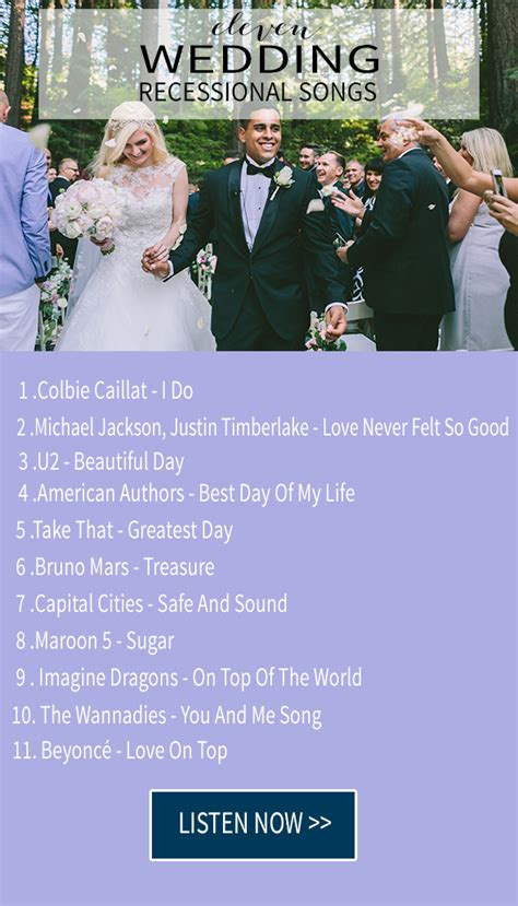 Wedding Aisle Songs Modern by 11 Wedding Recessional Songs Chic Stylish Weddings