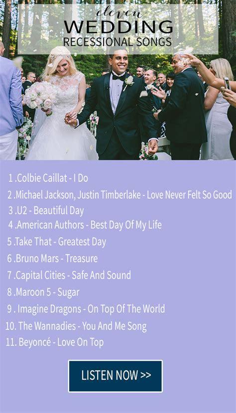 15 wedding recessional songs   Chic & Stylish Weddings