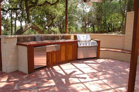 simple outdoor kitchen triyae com simple backyard kitchen ideas various