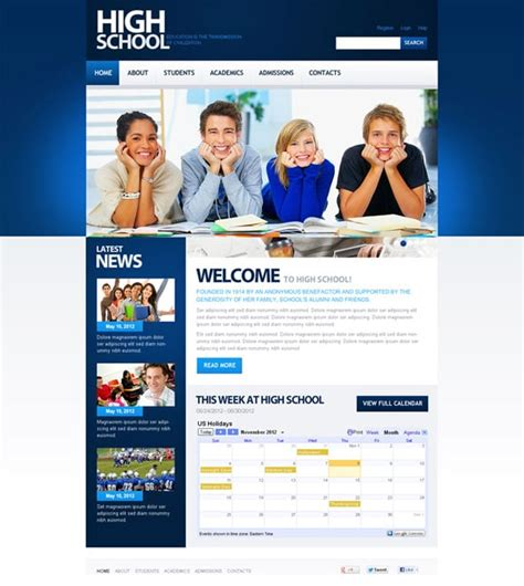 templates for school website enjoy a thanksgiving feast and join motocms promo