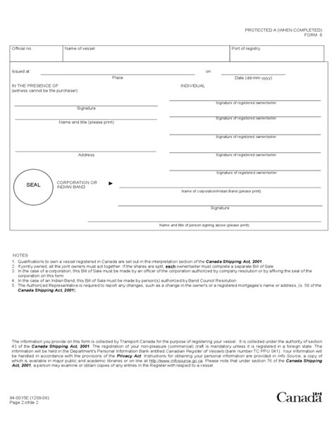 sle invoice canada vessel bill of sale form canada free download
