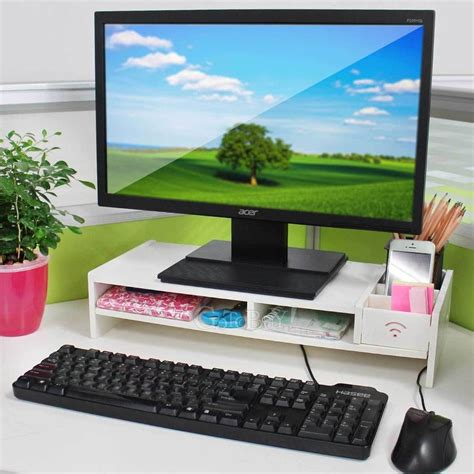 office desk with tv mount home office desk tidy pc computer monitor lcd tv stand