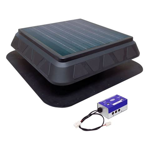 solar powered roof fan master flow 750 cfm low profile solar powered roof mount