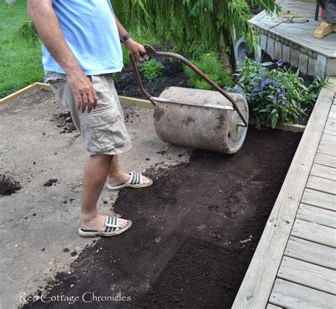 Laying Gravel In Backyard by Backyard Makeover Pea Gravel Patio Cottage Chronicles