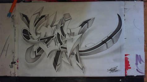wildstyle graffiti sketch speed drawing sur papier