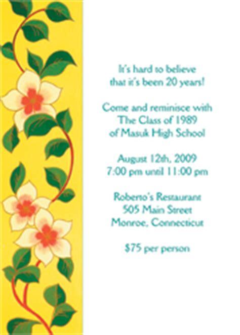 class reunion invitations