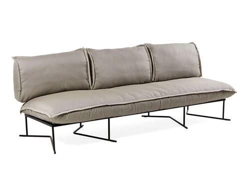 colorado illuminazione io divano da esterno base in acciaio con cuscini