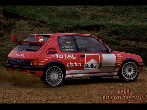 peugeot 205 rally peugeot 205 rally by badh13 on deviantart