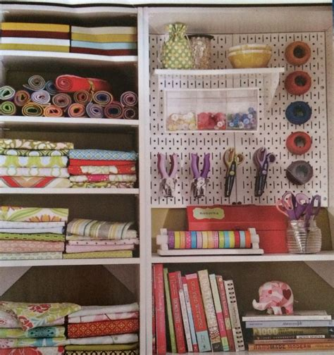 Pegboard Ideas Kitchen by Metal Pegboard W Shelving And Bins And Rolling Fabric