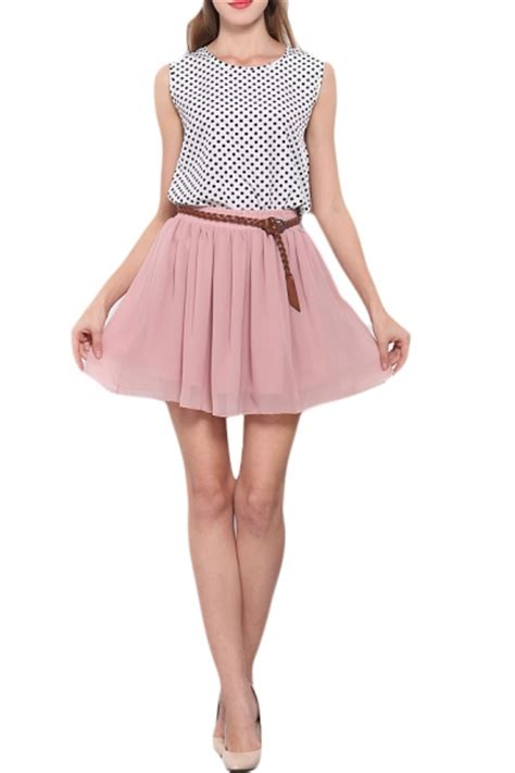 Pleated Chiffon Mini Skirt pink layer chiffon pleated mini skirt