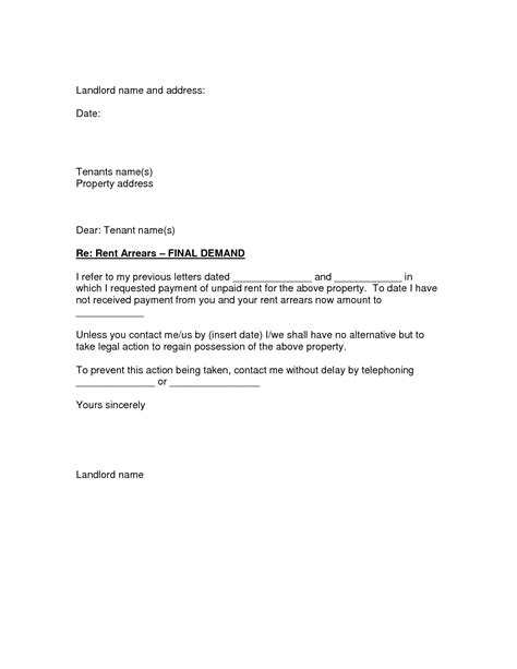 Rent Arrears Letter Template Best Photos Of Rent From Landlord Sle Letter Rent Collection Letter Rent Increase Letter