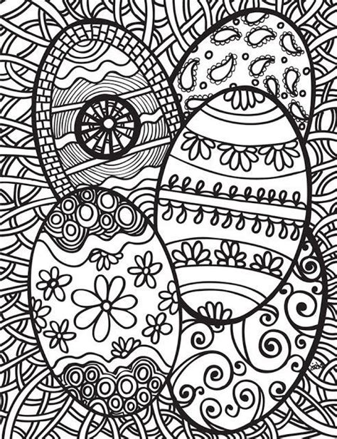 spring coloring pages hard difficult easter eggs to color adult coloring pages
