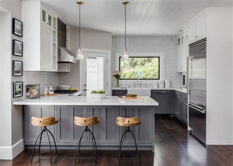 gray kitchen with white cabinets design your own gray and white kitchen homestylediary com