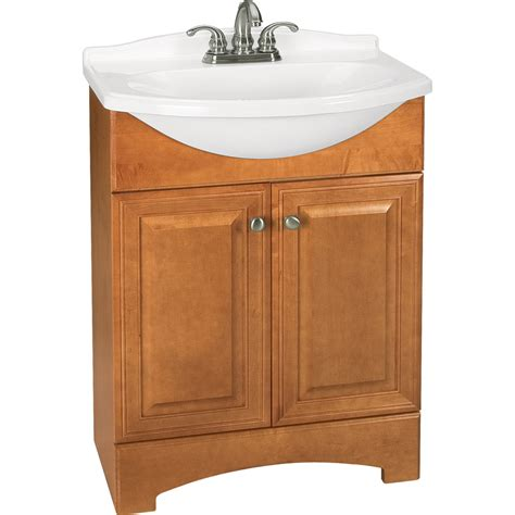 euro style bathroom vanity shop style selections euro style honey integral single