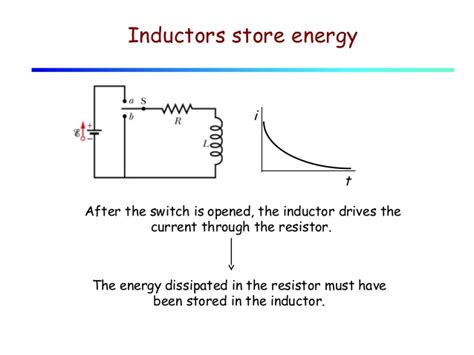 energy dissipated in an inductor lecture 27 inductors stored energy lr circuits
