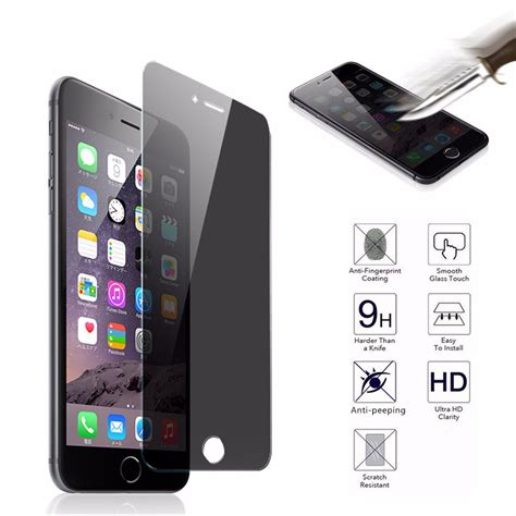 Tempered Glass Anti Iphone 7 7plus Anti Peep Curved Cover Tempered Glass Screen