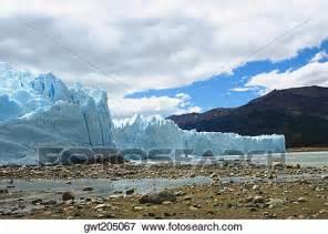 Cloud Wall Mural picture of glaciers in a lake moreno glacier argentine