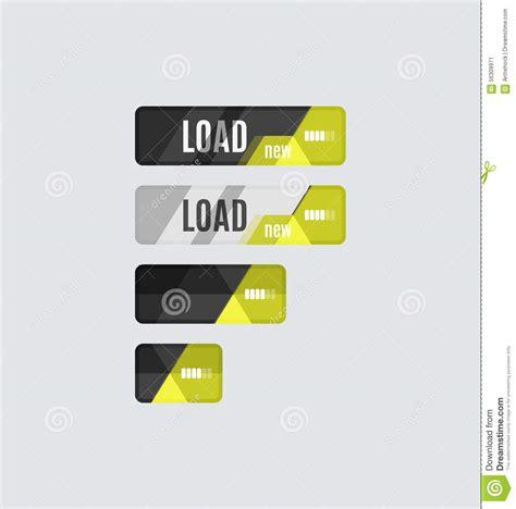 ui layout loaded load button futuristic hi tech ui design stock vector