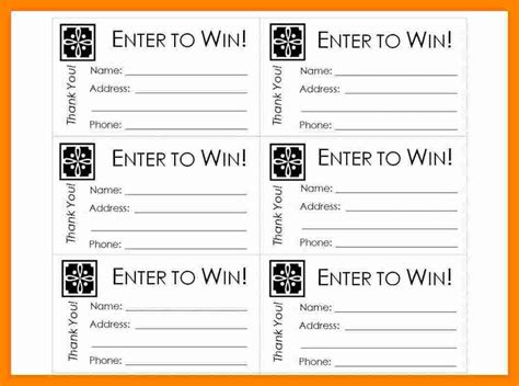 ticket template for pages free printable raffle ticket