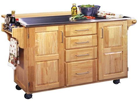 Butcher Block Kitchen Island Cart Large Rolling Kitchen Island Cart 6550
