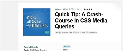 tutorial css media queries 11 great tutorials to learn responsive web design