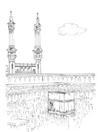 printable pictures kaaba kabaa coloring page only coloring pages