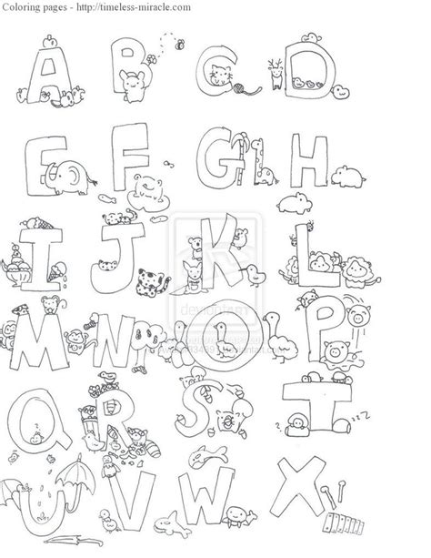 coloring pages of alphabet with animals alphabet animal coloring pages timeless miracle com