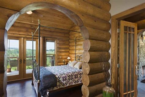 log bedroom suite love the log homes my dream home pinterest guest