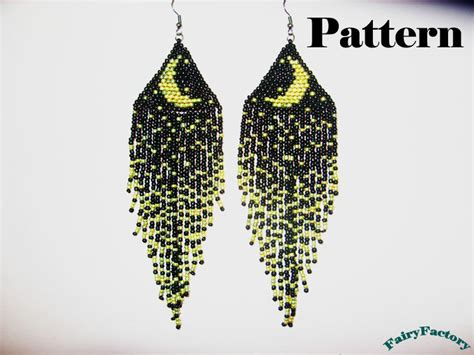 free seed bead earring patterns pattern moonlight sonata seed brick stitch earrings
