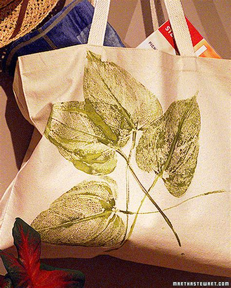 tote bag pattern martha stewart leaf print tote bag martha stewart