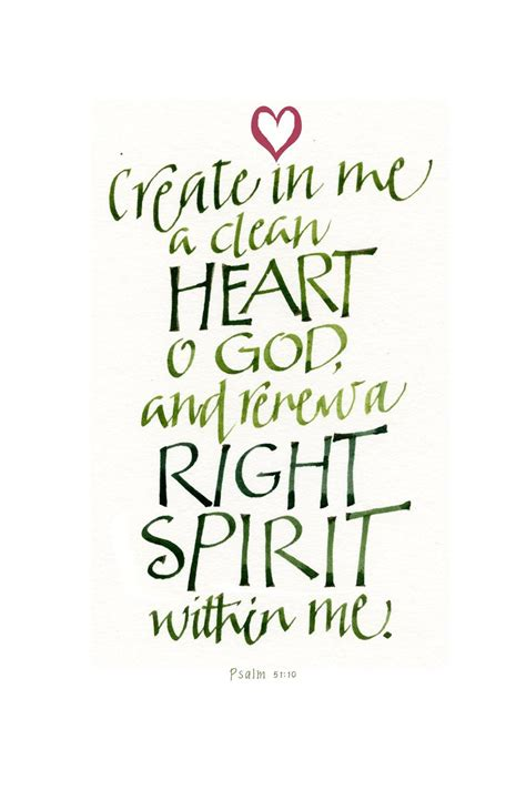 psalm  create    clean heart  god pearls  wisdom pinterest psalm
