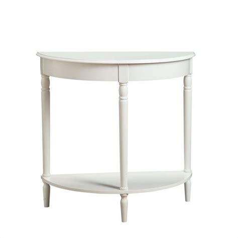 white entry table convenience concepts french country entryway white