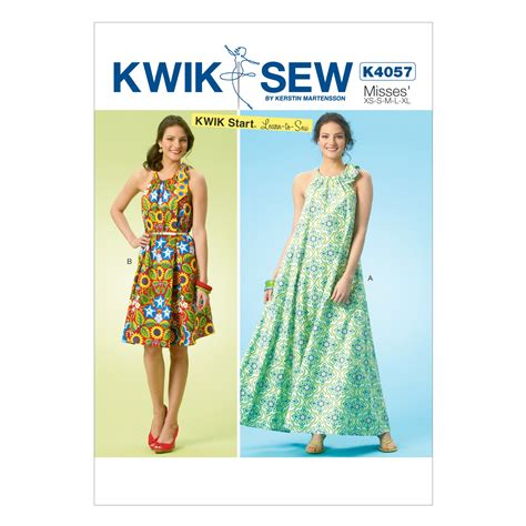 pattern review kwik sew 3871 misses dresses all sizes in one envelope jo ann