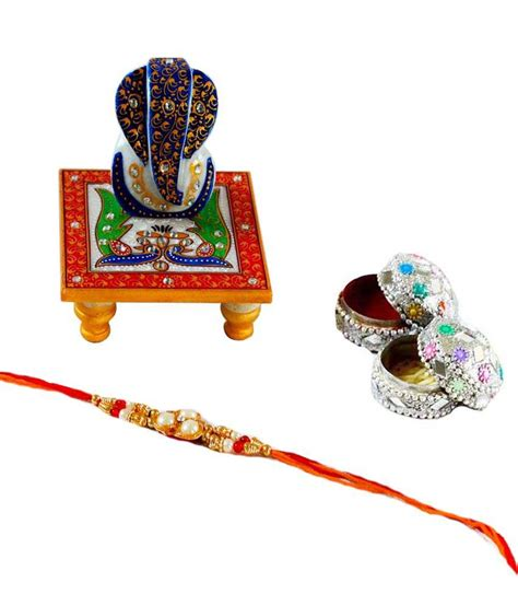 trendy gifts ecraftindia multicolour trendy rakhi gift wrap with ganesh