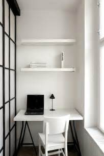 Office Desk Small Space Small Office Ideas With Black Laptop Closed Desk L On Square Table Front Simple White Chair
