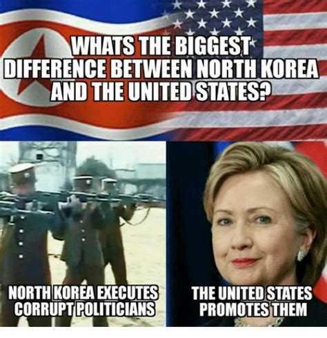 Meme Korea - whats the biggest difference between north korea and the