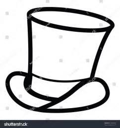 Cartoon Vector Outline Illustration Top Hat Stock Vector 49458028   Shutterstock