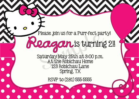 hello kitty printable invitation template hello kitty printable birthday invitations dolanpedia