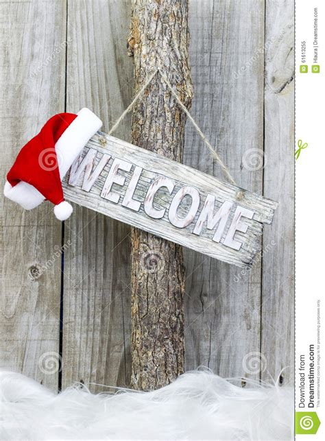 christmas welcome sign stock photo image 61613255