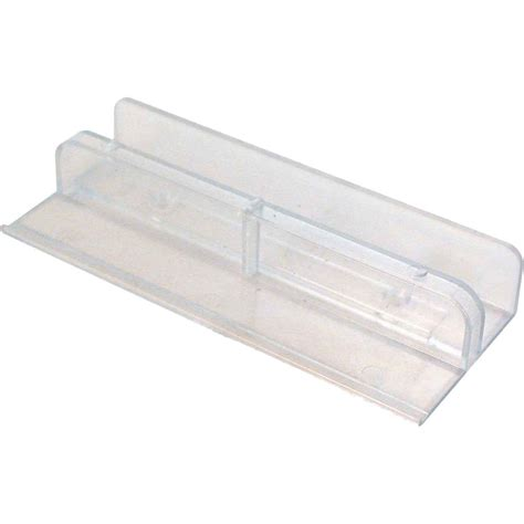 plastic sliding door prime line 1 2 in plastic sliding tub door bottom guide m 6067 the home depot