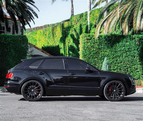bentley blacked out rdbla bentley bentayga black out with forgiato wheels