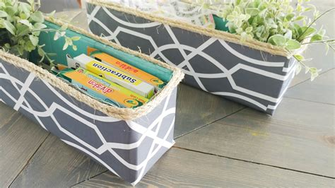 diy decorative storage bin cardboard box upcycle our