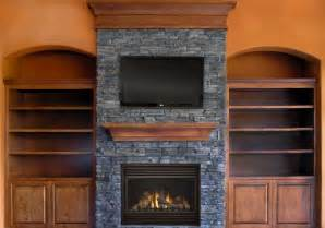 awesome faux stone fireplace surround designs